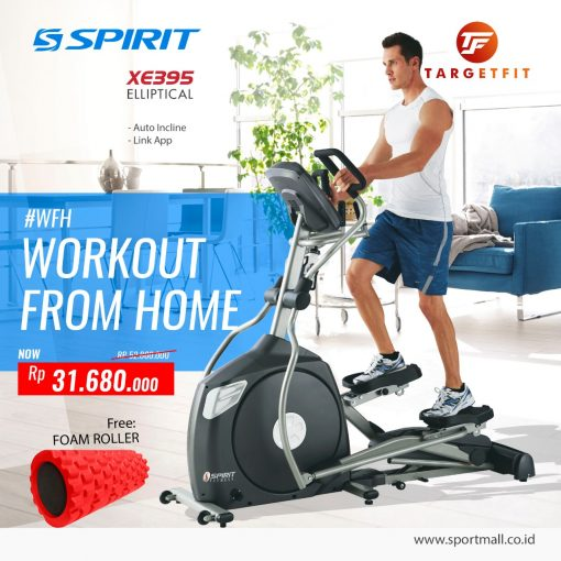 Workout From Home Spirit Elliptical XE395