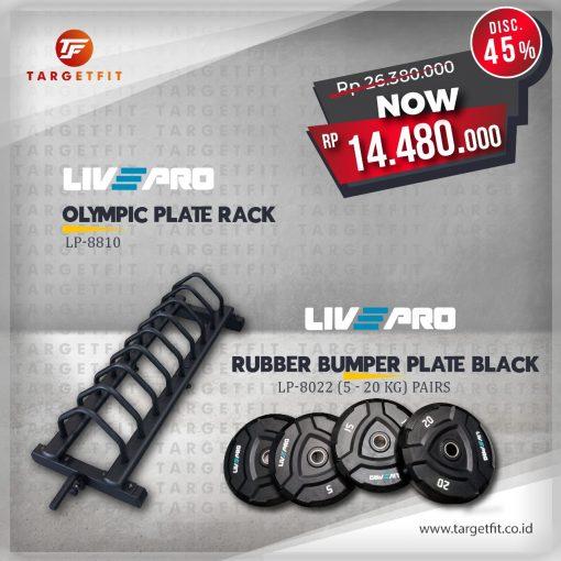 livepro black bumper and livepro plate rack