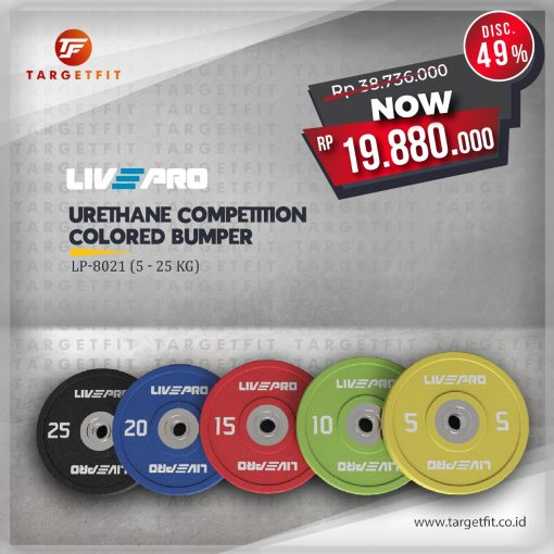 livepro colored bumper plate package
