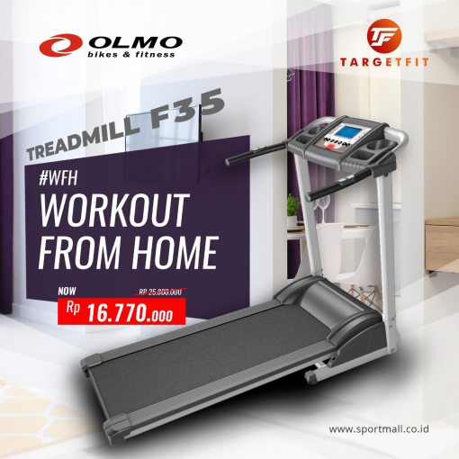 Workout From Home Olmo Treadmill F35