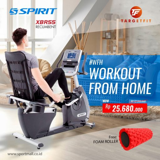Workout From Home Spirit Recumbent Bike XBR55